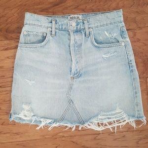 AGOLDE Denim Mini Skirt